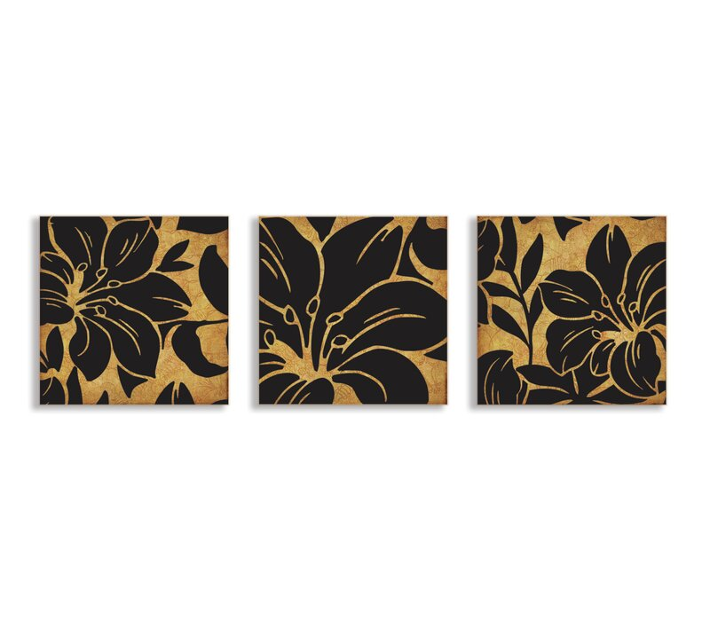 Stupell Industries Floral Print 3 Piece Canvas Wall Art Set Wayfair