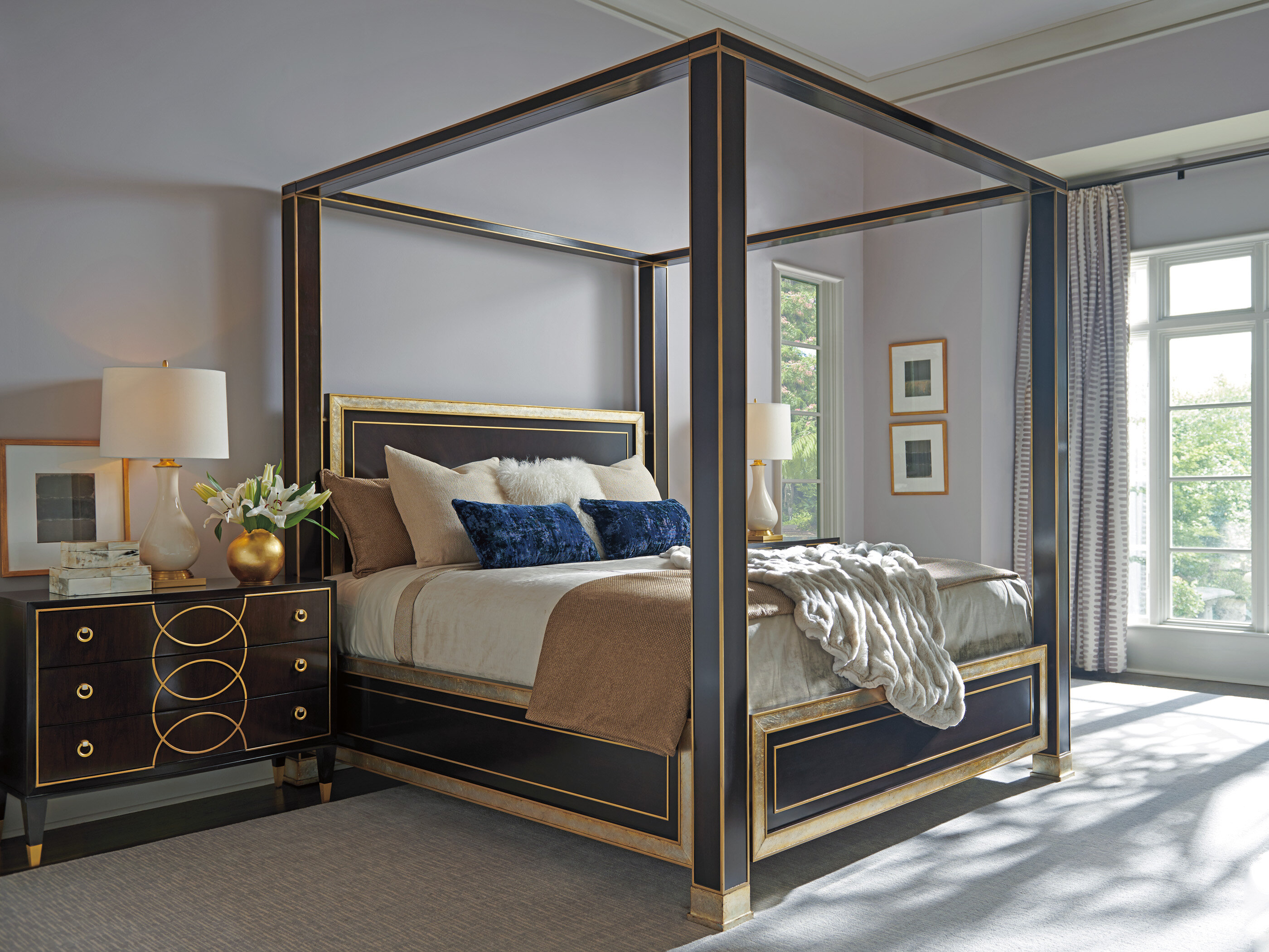 Carlyle Four Poster Solid Wood