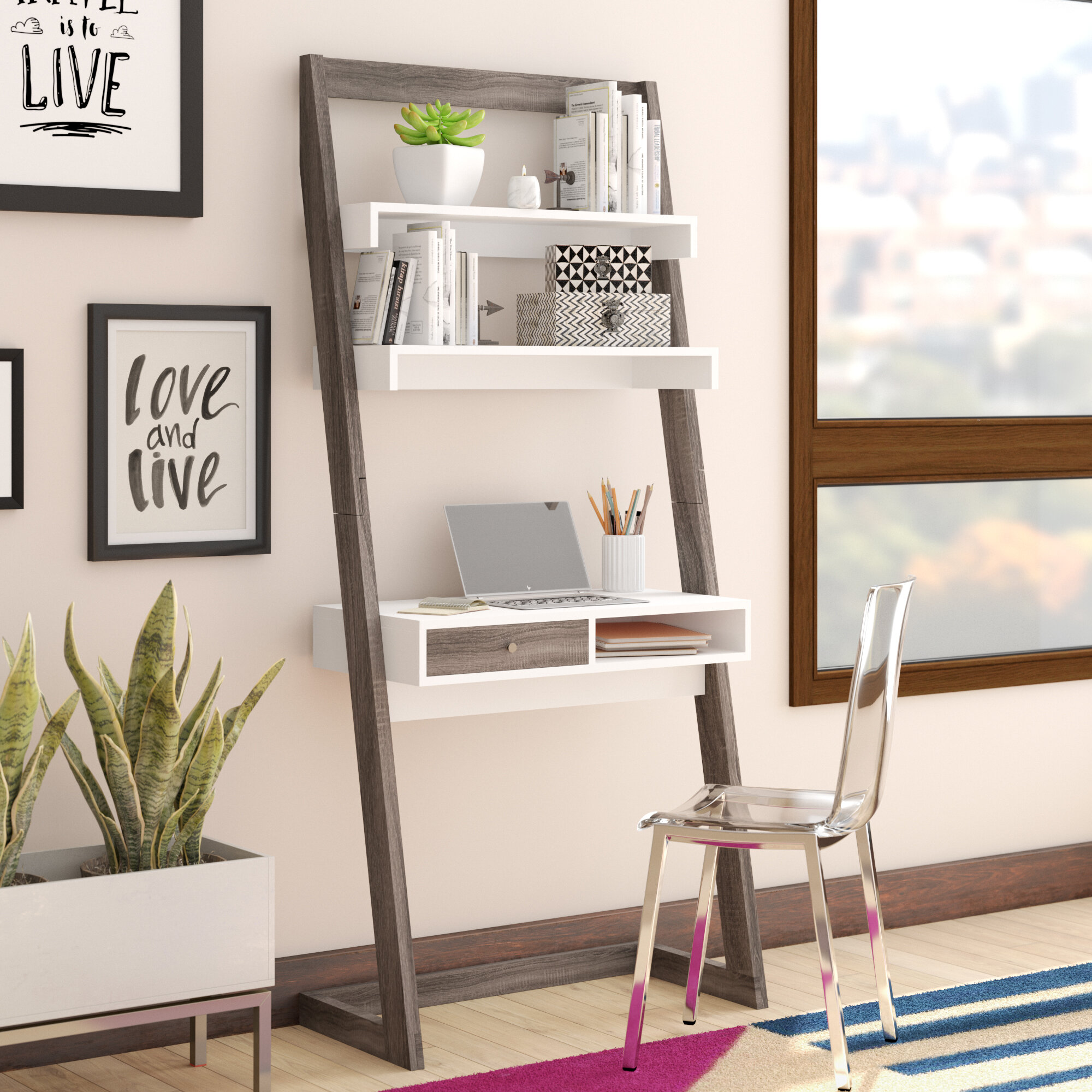 Wrought Studio Darosa Floating Desk Reviews Wayfair Co Uk