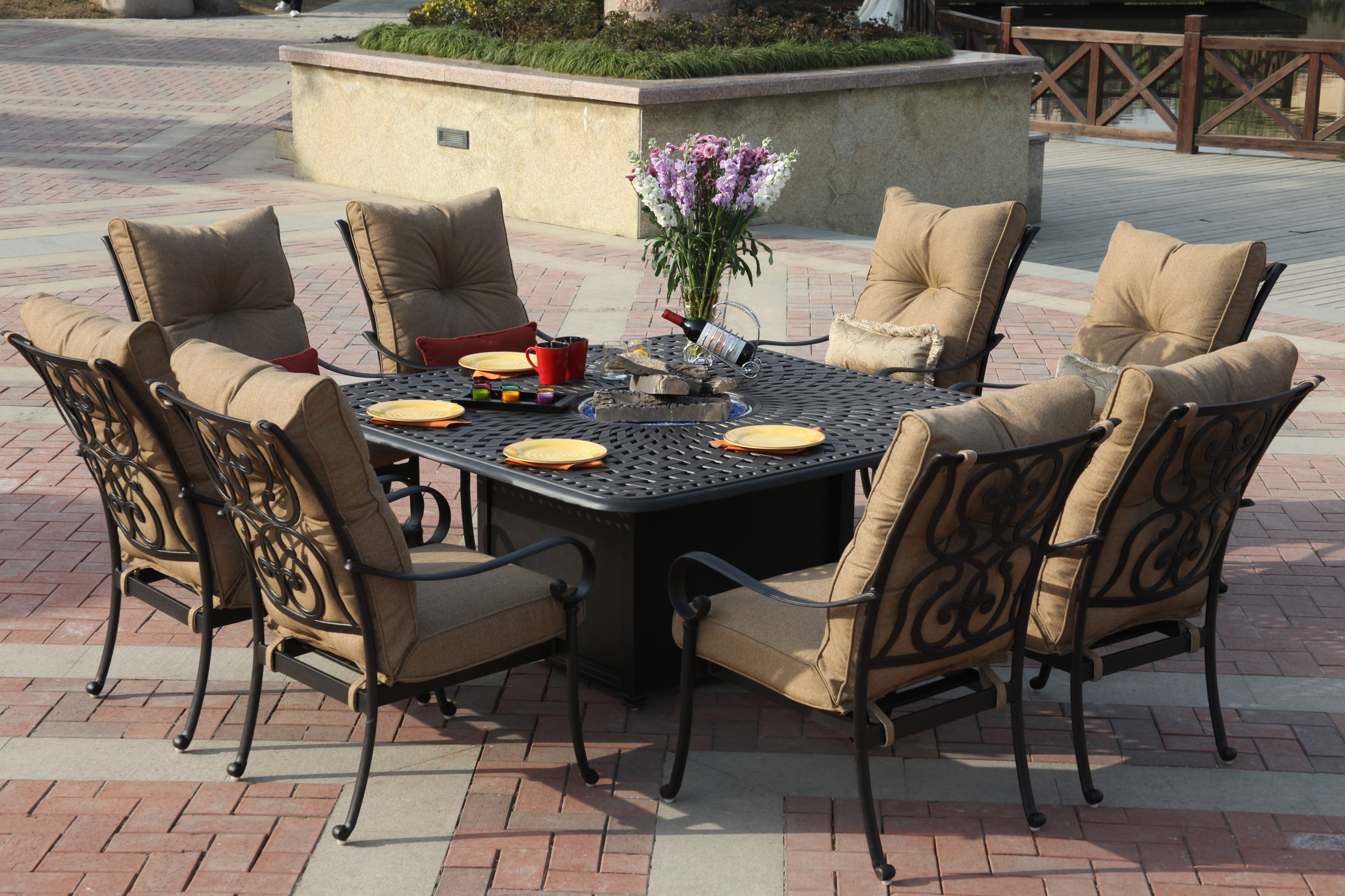 Eight Person Firepit Patio Dining Sets You Ll Love In 2021 Wayfair