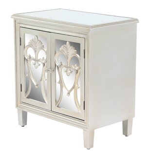 Marian Mirror Carved Filigree 2 Door Accent Cabinet by Rosdorf Park