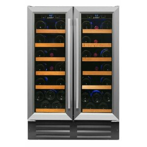 40 Bottle Professional Series Dual Zone Convertible Wine Cooler by Smith & Hanks