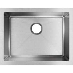 Crosstown 24 L x 18 W Undermount Kitchen Sink by Elkay