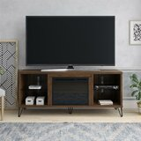 Concord TV Stand for TVs up to 75 with Electric Fireplace Included by Novogratz
