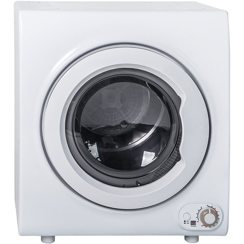 Pimpimsky 2 65 Cu Ft Electric Dryer With Sensor Dry In White Wayfair