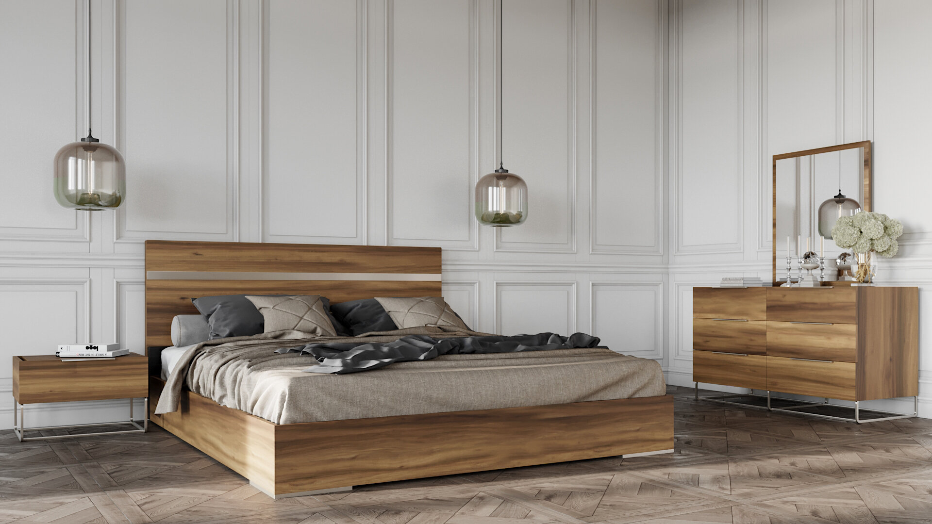 Kingon Platform 8 Piece Bedroom Set