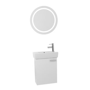 Cubical 19 Single Bathroom Vanity Set with Mirror by Nameeks Vanities