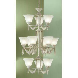 Saratoga 12-Light Shaded Chandelier by Classic Lighting