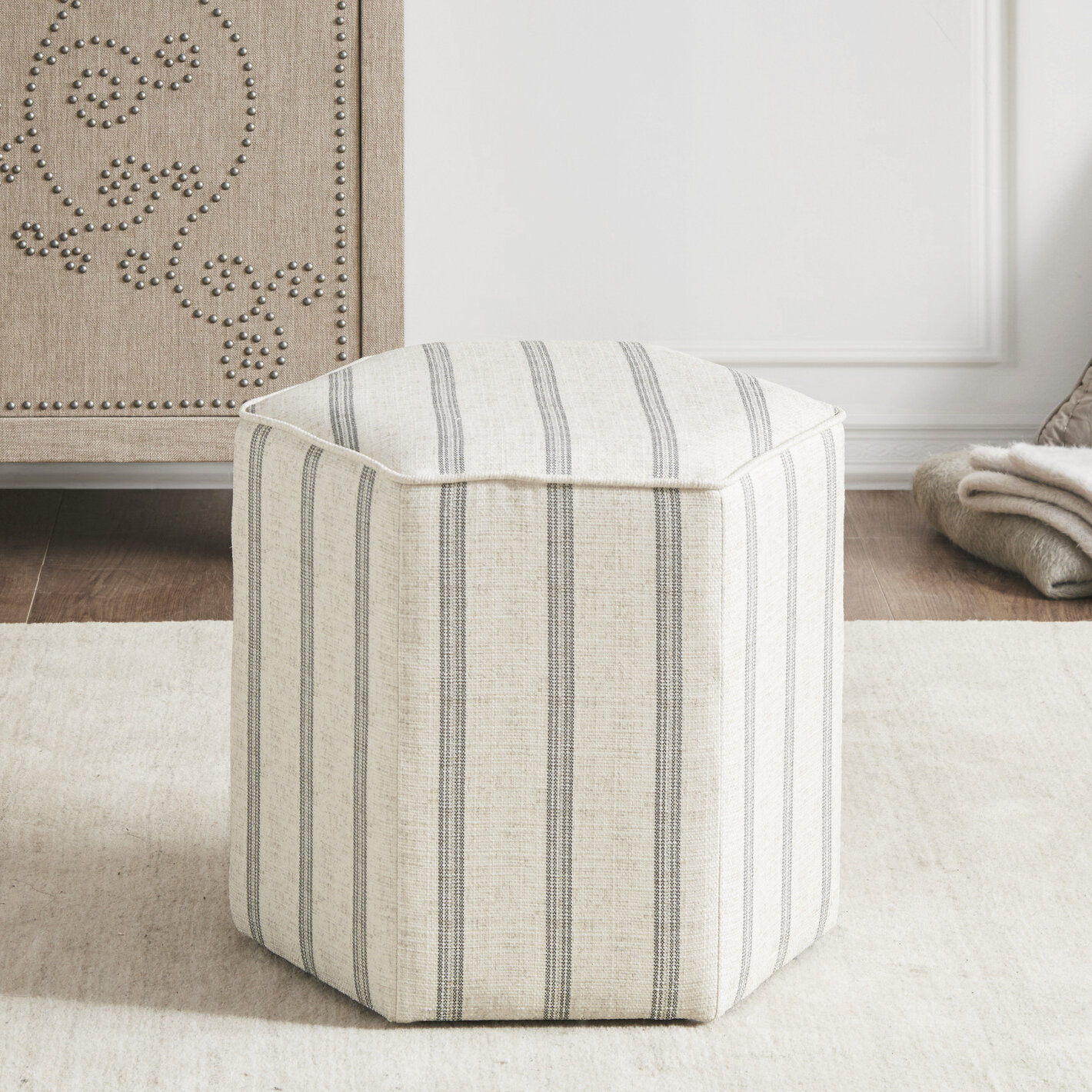 Martha Stewart Ellen 18 Striped Cube Ottoman Reviews Wayfair