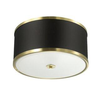 Everly Quinn Northwich 3-Light LED Flush Mount