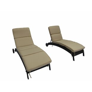 Breakwater Bay Brookfield Chaise Lounge with Cushion (Set of 2)