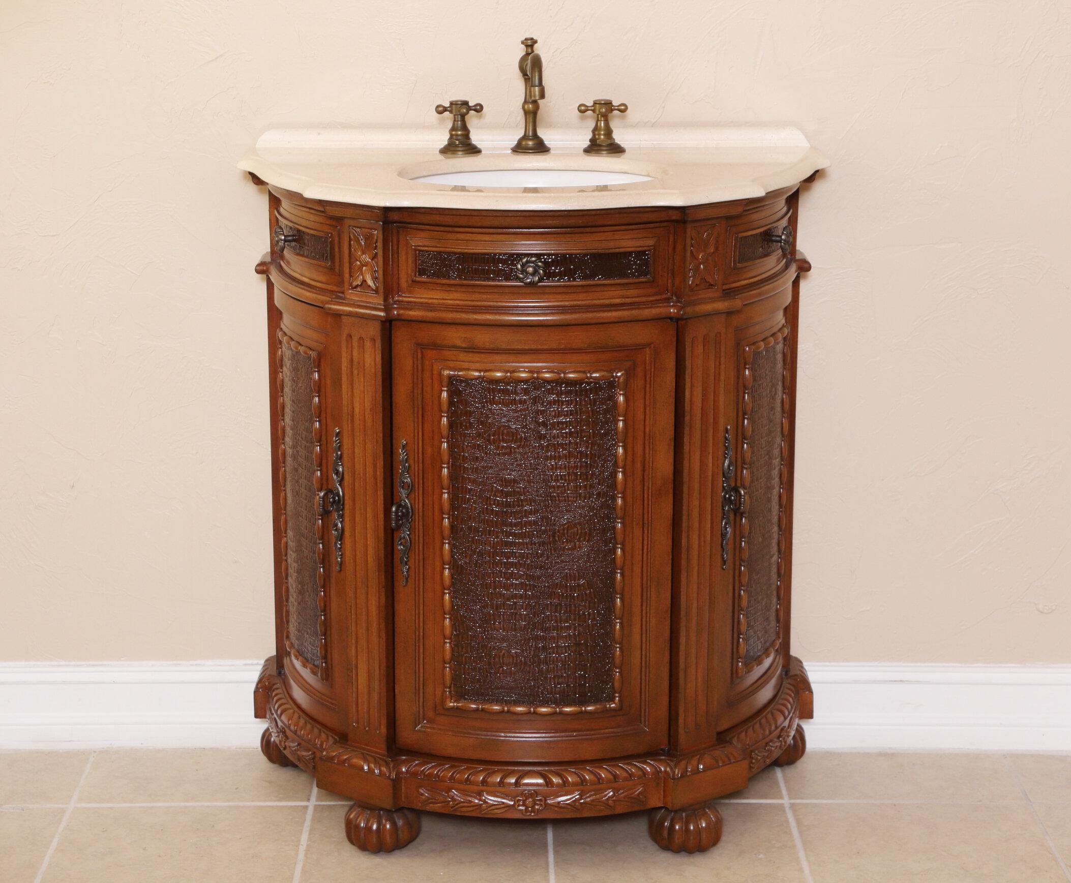 B I Direct Imports Anna 31 Single Demilune Bathroom Vanity Set Wayfair