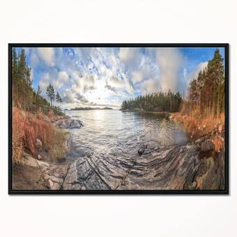 Charlton Home Cardinals Framed Acrylic Painting Print Wayfair