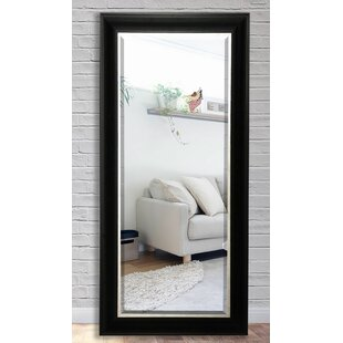 Darby Home Co Black Wood Beveled Wall Mirror