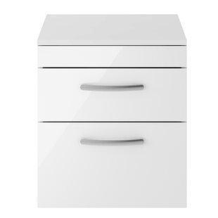 Clarendon 50cm Wall-Mounted Vanity Unit Base Only By Mercury Row
