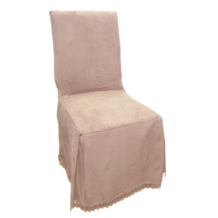 Excellent Faux Suede Dining Chair Slipcover Pabps2019 Chair Design Images Pabps2019Com