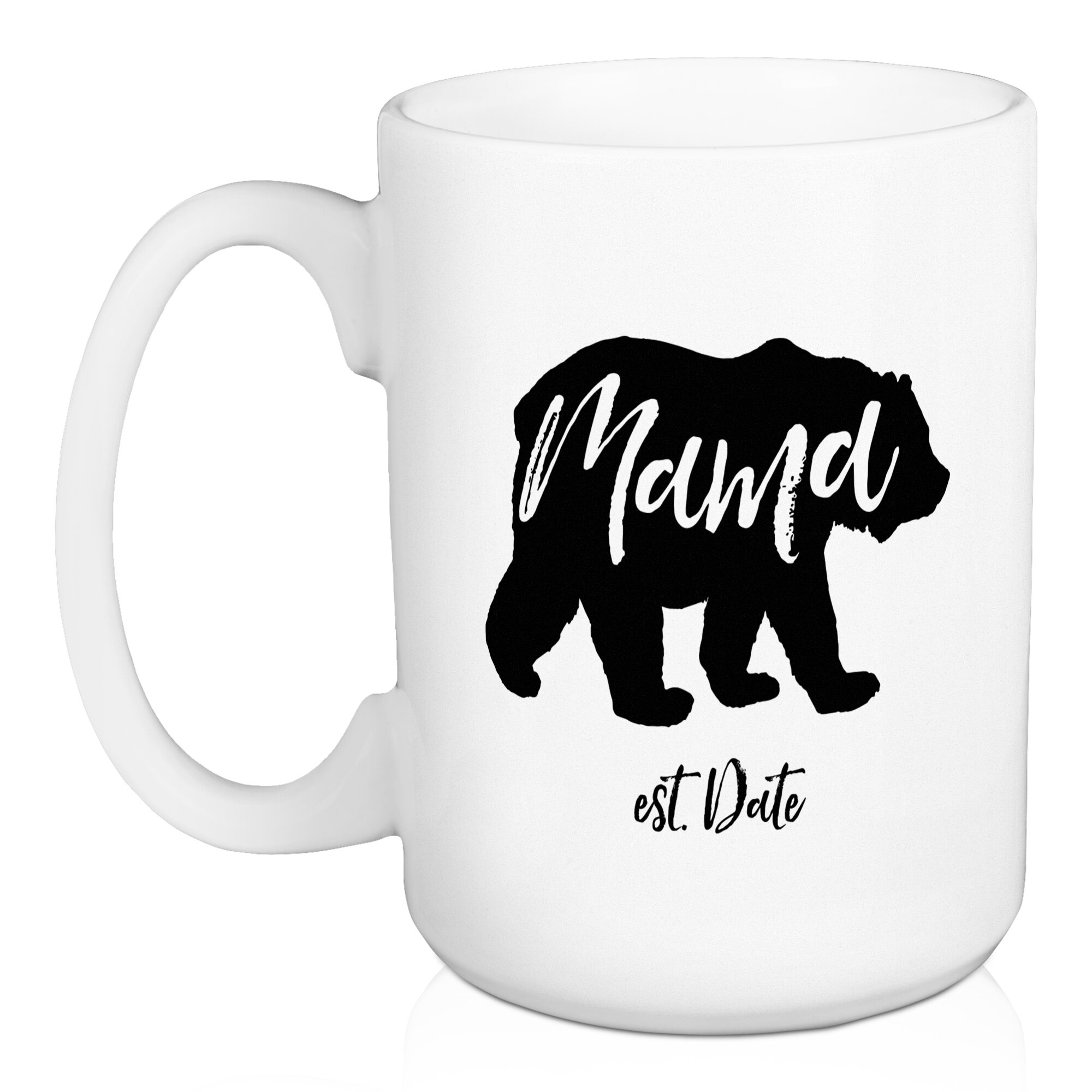 cbd534ef7d Loon Peak Pagel Mama Bear Personalized Coffee Mug   Wayfair