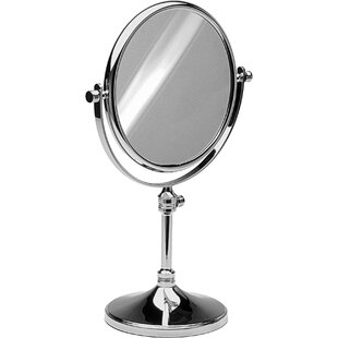 Best Reviews Hummer Round Double-Sided Makeup/Shaving Mirror By Alcott Hill