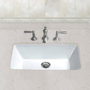 Affordable Ceramic Rectangular Undermount Bathroom Sink with Overflow By Hahn