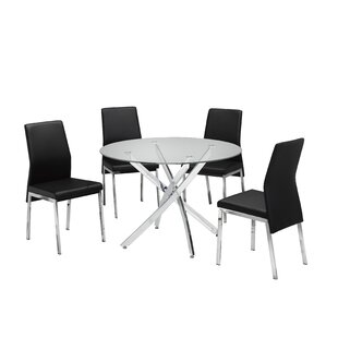 Meredith 5 Piece Dining Set Brassex