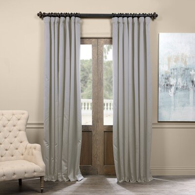 Alcott Hill Aldreda Extra Wide Solid Blackout Thermal Rod Pocket Single Curtain Panel Size per Panel: 120 L x 100 W, Color: Fog Gray