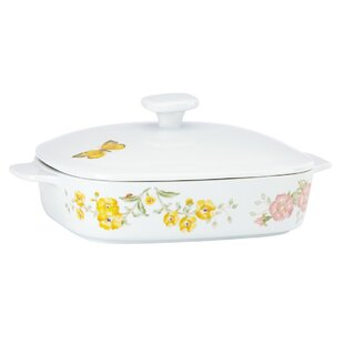 Butterfly Meadow Square Casserole with Lid