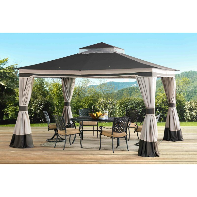 Graypointe 12 Ft. W X 10 Ft. D Metal Patio Gazebo