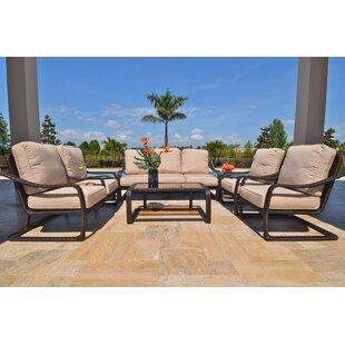 Outdoor Masterpiece Palms 7 Piece Sunbrella Sofa Set with Cushions