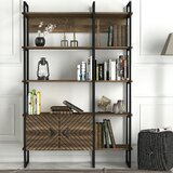 Chesney 70.9'' H x 47.2'' W Metal Standard Bookcase by 17 Stories