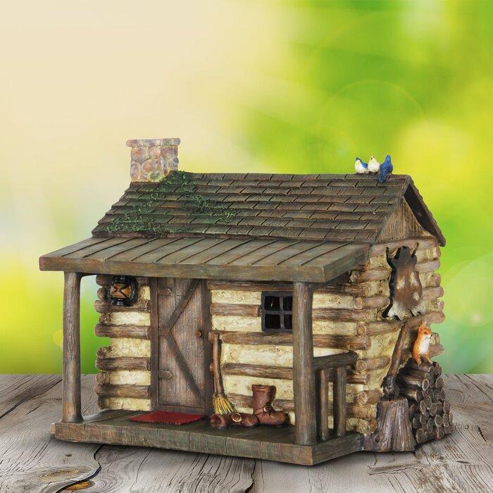 Digirolamo Log Cabin House Fairy Garden
