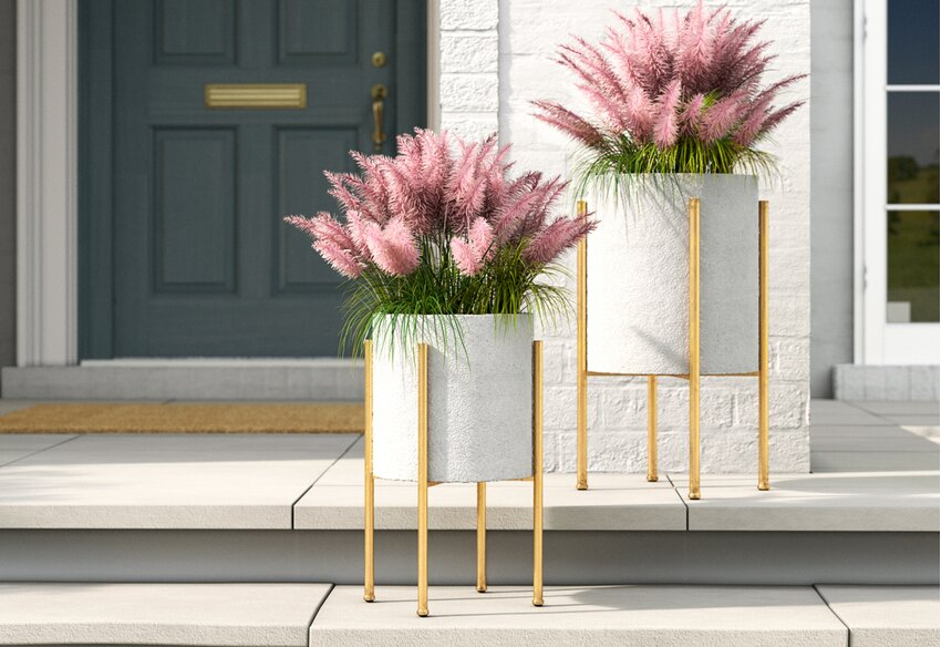 2 Tier Plant Stand,Yanvan 32 Inch Iron Plant Stand Planter Rack Flower Pots Holder Disply Rack