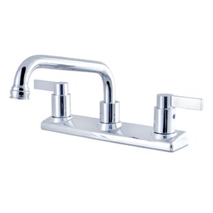 Kingston Brass Nuvofusion Pull Out Double Handle Kitchen Faucet
