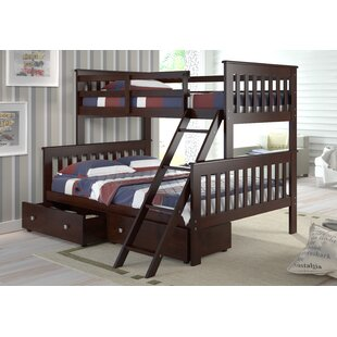 Steam Plant Twin over Full Standard Bunk Bed with Storage
