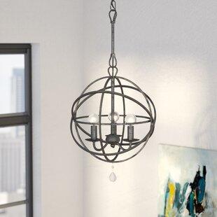 Willa Arlo Interiors Gregoire 3-Light Globe Chandelier