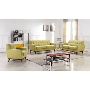 Athens 3 Piece Living Room Set by George Oliver