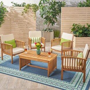 Bangor Outdoor 5 Piece Conversation Set with Cushions