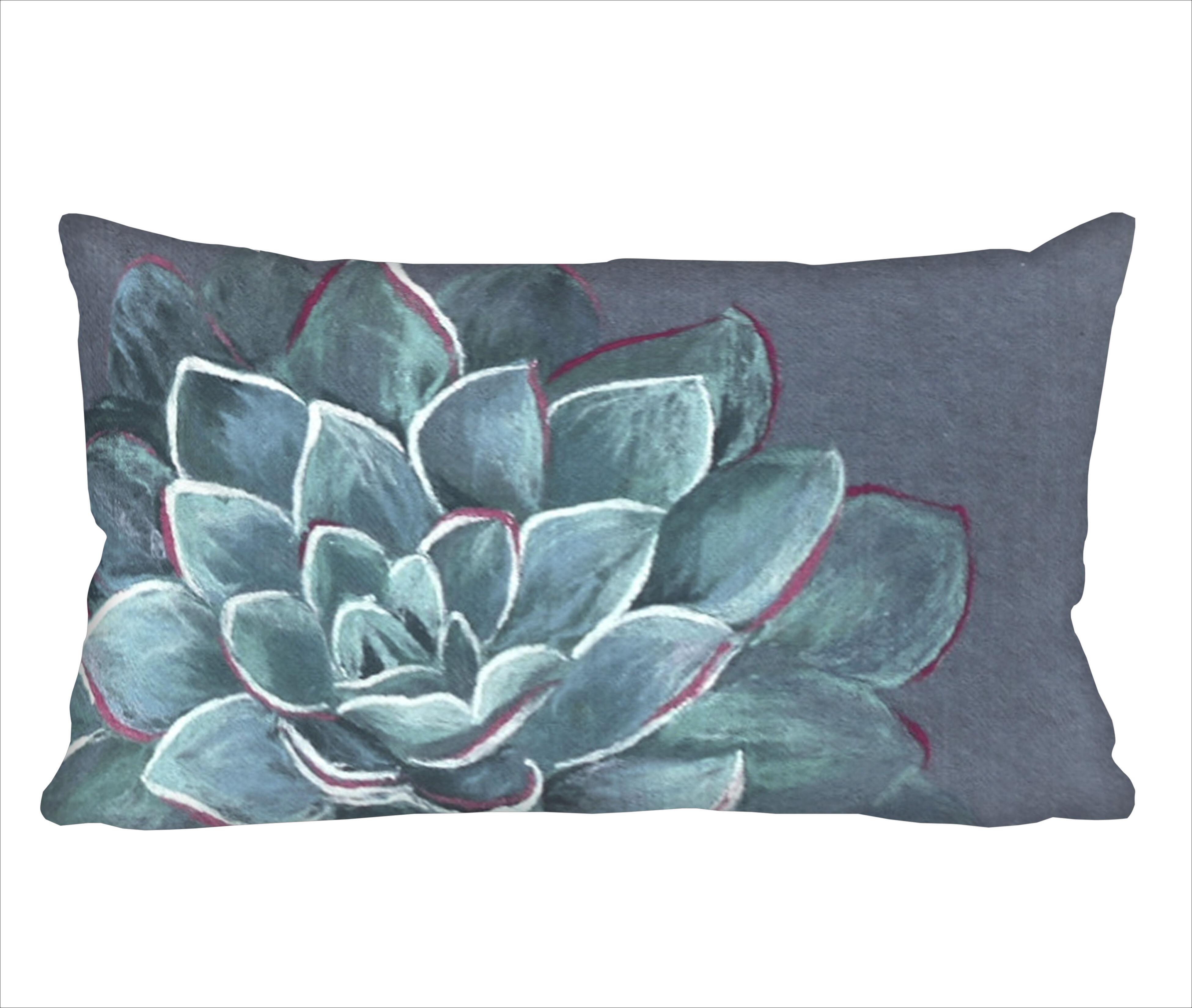 Bungalow Rose Masie Succulent Lumbar Pillow Reviews Wayfair