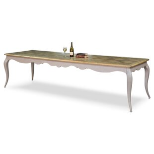 Louis XV Solid Wood Dining Table by Sarreid Ltd 2019 Coupon