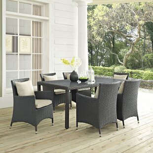 Tripp 7 Piece Sunbrella Dinning Set with Cushions