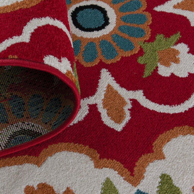Sol 72 Outdoor Tinsman Red Area Rug Reviews Wayfair Ca