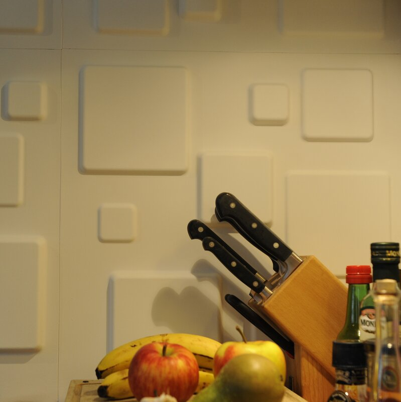 Decor Wonderland Squares 3D Decorative Wall Panels & Reviews | Wayfair