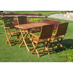 Breakwater Bay Sabbattus Almeria 5 Piece Dining Set
