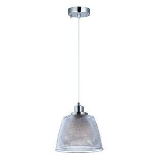 Latitude Run Caulkins 1-Light LED Cone Pe..