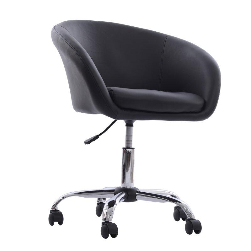 black desk chair. Tub Desk Chair Black V