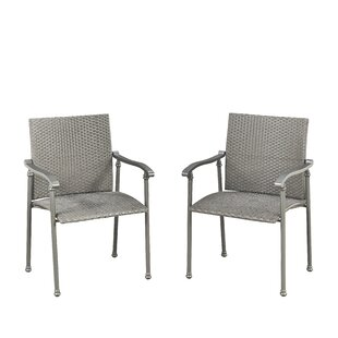 Coupland Stacking Patio Dining Chair (Set of 2)