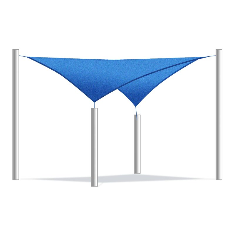 ALEKO 12 Shade Sail  Color: Blue