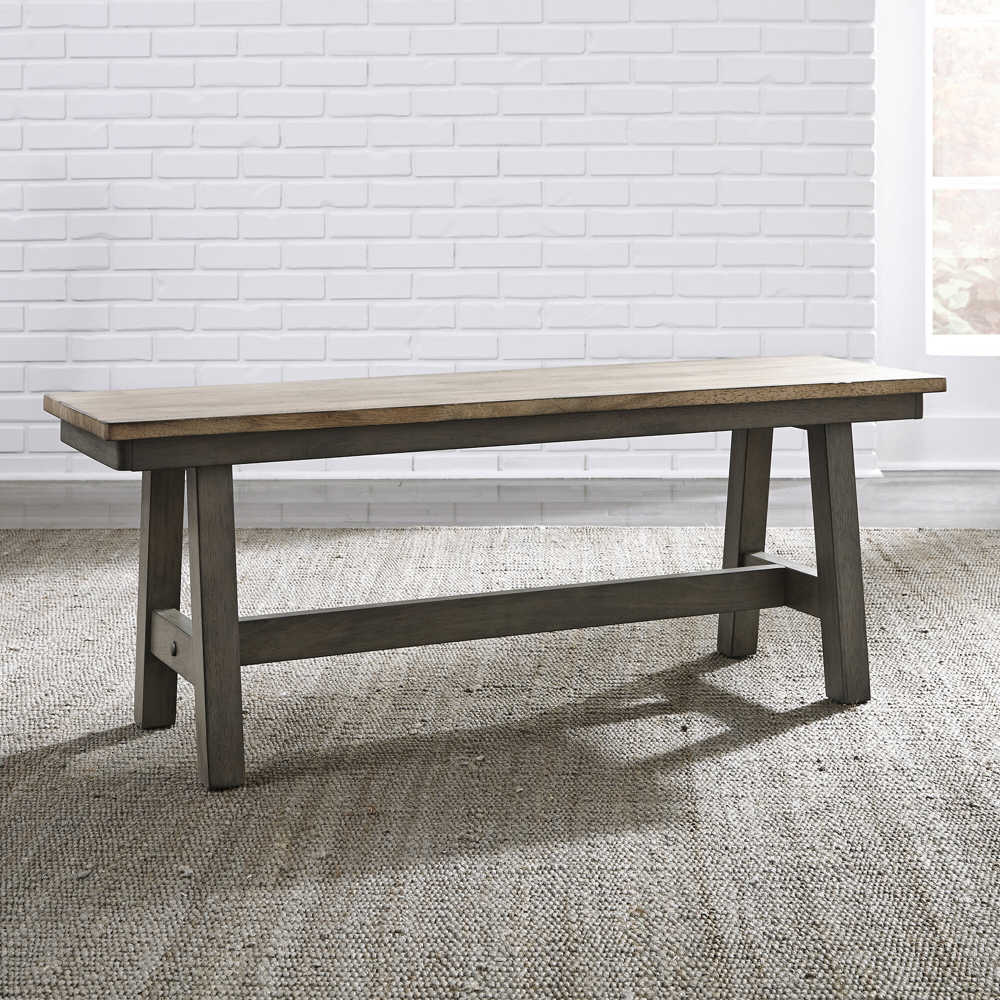 Gracie oaks kruger backless wood bench wayfair