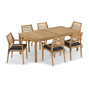 Rosecliff Heights Crossland 7 Piece Dining Set with Cushions