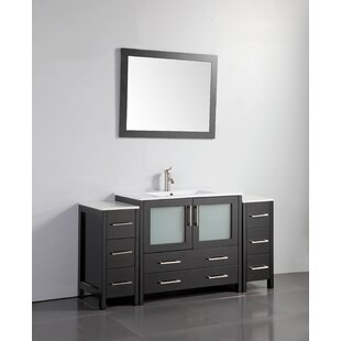 Bowler 60 Single Bathroom Vanity Set with Mirror by Wrought Studio