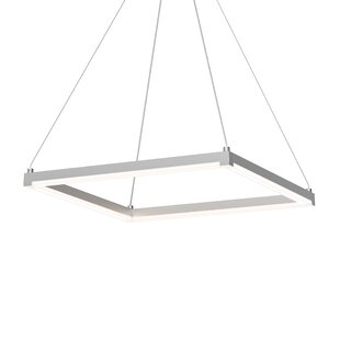 Poythress LED Hardwired Square/Rectangle Pendant by Orren Ellis
